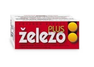 Tablety železo plus tbl.60 (s vit. B12 a kys. listovou)