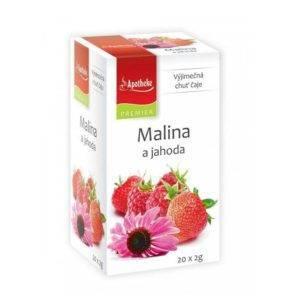 Malinový čaj s jahodami