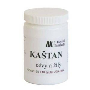 Kaštan tablety (tablety na cévy)