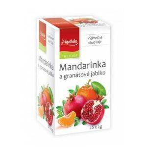 Mandarinka a granátové jablko čaj