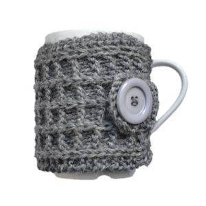 Hrnek ve svetru šedý (dárkový hrnek)