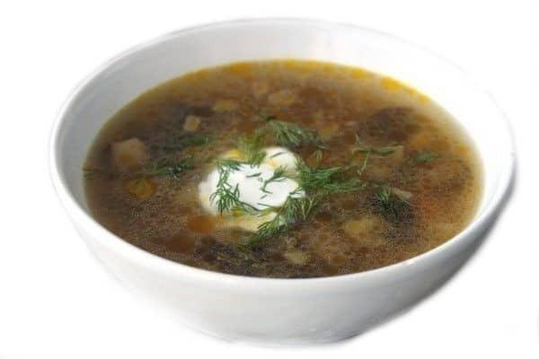 Houbová polévka recept (hřibová polévka recept)