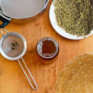 Domácí tymiánový sirup recept